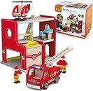 Фото Viga Toys игровой набор Пожарная часть (50828)