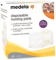 Фото Medela Одноразовые вкладыши в бюстгалтер Disposable Nursing Pads 60 шт. (008.0323)