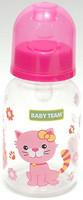 Фото Baby Team Бутылочка с силиконовой соской 125 мл (1400)