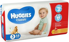 Фото Huggies Classic 5 (11-25 кг) 58 шт