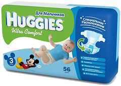 Фото Huggies Ultra Comfort 3 для мальчиков (56 шт)