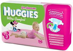 Фото Huggies Ultra Comfort 3 для девочек (56 шт)