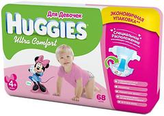Фото Huggies Ultra Comfort 4+ для девочек (68 шт)