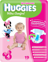 Фото Huggies Ultra Comfort 4 для девочек (19 шт)