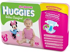 Фото Huggies Ultra Comfort 4 для девочек (66 шт)
