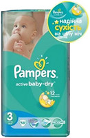 Фото Pampers Active Baby-Dry Midi 3 (58 шт)