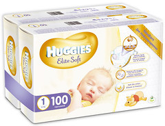 Фото Huggies Elite Soft 1 (100 шт)