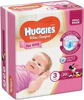 Фото Huggies Ultra Comfort 3 для девочек (20 шт)