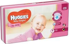 Фото Huggies Ultra Comfort 4 для девочек (50 шт)