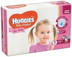 Фото Huggies Ultra Comfort 5 для девочек (42 шт)