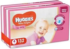 Фото Huggies Ultra Comfort 4 для девочек (132 шт)