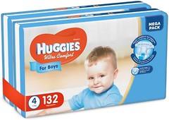 Фото Huggies Ultra Comfort 4 для мальчиков (132 шт)
