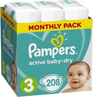 Фото Pampers Active Baby-Dry Midi 3 (208 шт)