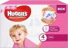 Фото Huggies Ultra Comfort 4 для девочек (100 шт)
