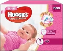 Фото Huggies Ultra Comfort 3 для девочек (112 шт)