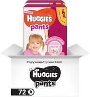 Фото Huggies Pants 6 для девочек (72 шт)