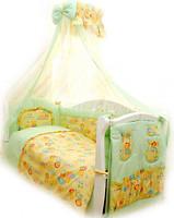 Фото Twins Comfort Переменная постель С-012 Пушистые мишки зел