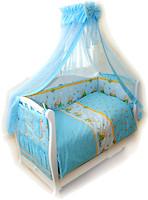 Фото Twins Comfort Переменная постель Медуны голубой С-011
