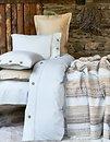 Фото Karaca Home Woodley mavi двуспальный Евро с покрывалом 220x240