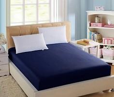 Фото Boston Textile Jefferson Простынь на резинке сатин 90x200 Dark blue (BJDB90200)