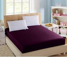 Фото Boston Textile Jefferson Простынь на резинке сатин 100x200 Dark plum (BJSDP100200)