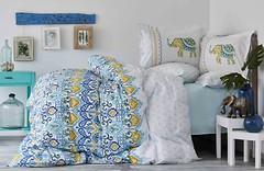 Фото Karaca Home Marodisa Mavi двуспальный Евро