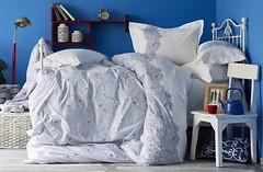 Фото Karaca Home Simi Mavi двуспальный Евро с покрывалом пике