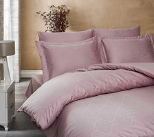 Фото Lighthouse Exclusive Sateen Jacquard двуспальный Евро темно-розовый (43257/2.0)