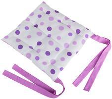 Фото LiMaSo Фиолетовый горошек Подушка на стул 40x40