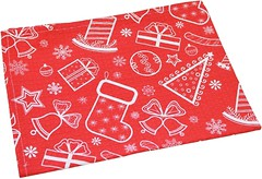 Фото Прованс Новогоднее кухонное полотенце 45x60 красное