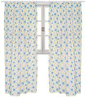 Фото Прованс Штора Луговые цветы бело-желто-голубая 145x250
