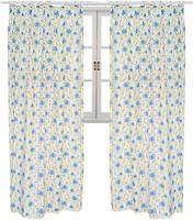 Фото Прованс Штора Луговые цветы бело-желто-голубая 145x170