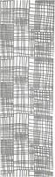 Фото IKEA Akvelina бело-серая 60x300 (104.245.55)