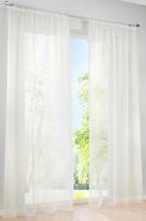 Фото Bonprix Гардина Однотонная вуаль тесьма 140x145 кремовая
