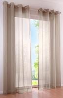 Фото Bonprix Гардина Однотонная вуаль люверсы 140x145 серо-коричневая