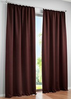 Фото Bonprix Штора блэкаут тесьма 130x145 коричневая