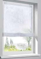 Фото Bonprix Римская штора с принтом, люверсы 100x130 бело-серая (949279)