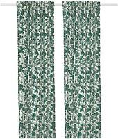 Фото IKEA Alpklover (Альпклевер) 145x300 бело-зеленая (604.598.11)