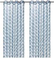 Фото IKEA Sagalill сине-белая 145x300 (504.647.90)