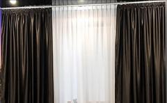 Фото Ламбрекен-ателье штора блэкаут 300x270 коричневая