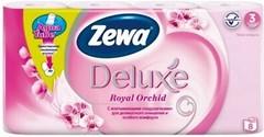 Фото Zewa Туалетная бумага Deluxe Royal Orchid 3-слойная 8 шт