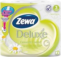 Фото Zewa Туалетная бумага Deluxe Camomile Comfort 3-слойная 4 шт