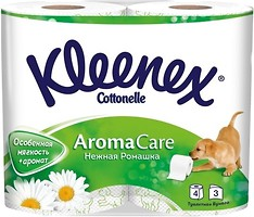 Фото Kleenex Туалетная бумага Aroma Care Нежная ромашка 3-слойная 4 шт