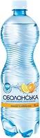 Фото Оболонь Оболонська со вкусом лимона и апельсина сильногазированная ПЭТ 0.5 л