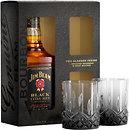 Фото Jim Beam Black Extra Aged 0.7 л в подарочной коробке с 2 стаканами