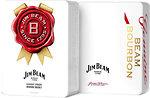 Фото Jim Beam White Bourbon 0.7 л в металлической коробке с 2 бокалами