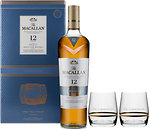 Фото Macallan Fine Oak Triple Cask 12 YO 0.7 л в подарочной коробке с 2 бокалами