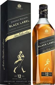 Фото Johnnie Walker Black Label 12 YO 1 л в подарочной коробке