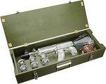 Фото Red Army Vodka автомат Калашникова 1 л в деревянной коробке с миниатюрой 0.2 л в виде гранаты и 6 рюмками