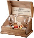Фото Mazzetti Modigliani Grappa Barolo 0.7 л в деревянной шкатулке с 2 бокалами